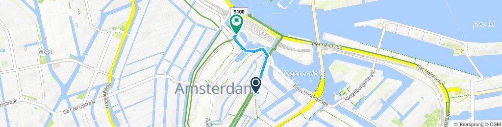 Route im Schneckentempo in Amsterdam