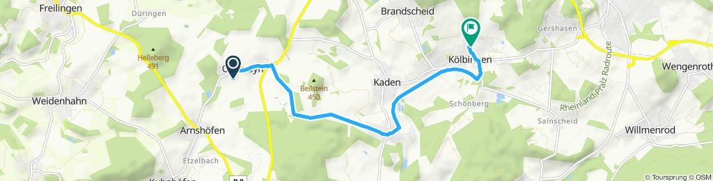 Langsame Fahrt in Rothenbach