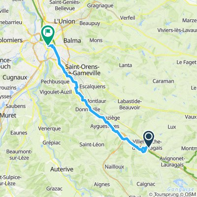 Lauragais to Toulouse S-A