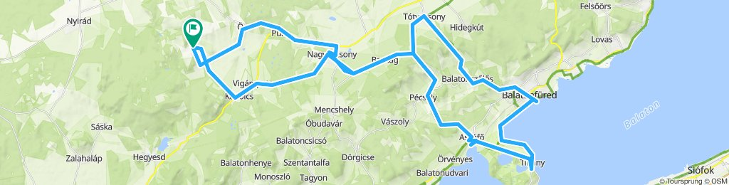 Taliándörögd-Tihany-Balatonfüred-Taliándörögd kör, de inkább 8-as.