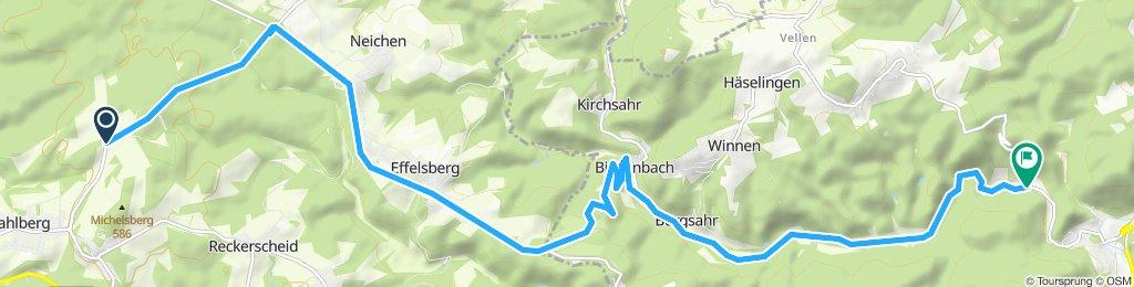Einzelzeitfahren 2019 RS Altenahr, Variante Effelsberg, final