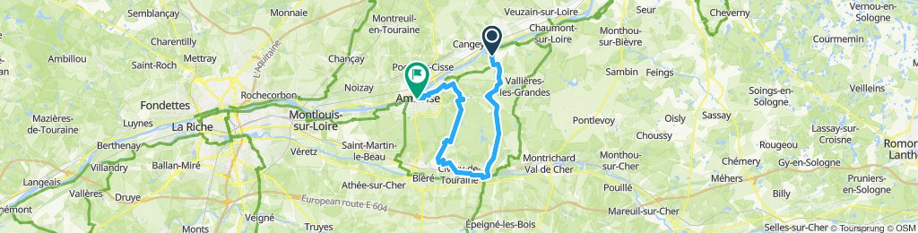 Mosnes - Amboise - Loire bike trip