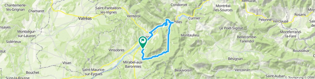 Ruta lenta en Mirabel-aux-Baronnies
