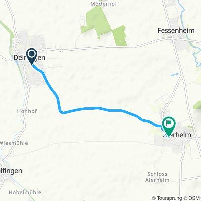 Einfache Fahrt in Alerheim