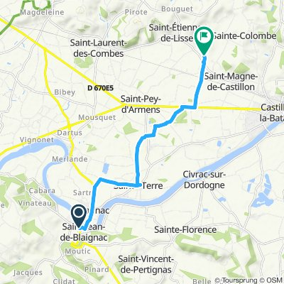 Moderate route in Saint-Magne-de-Castillon