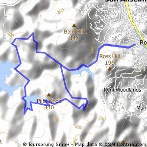 Ross - Five Points - Lake Lagunitas - Eldridge Loop