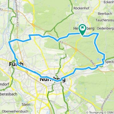 Pegnitztalradweg 50 km