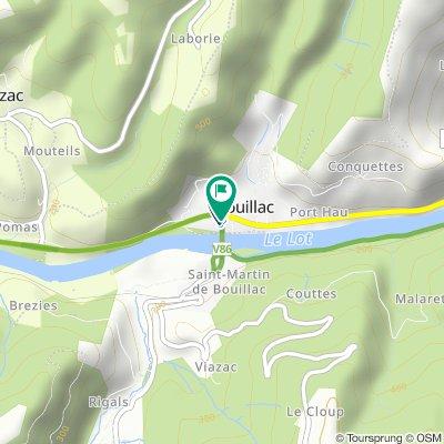 Gerade Fahrt in Bouillac