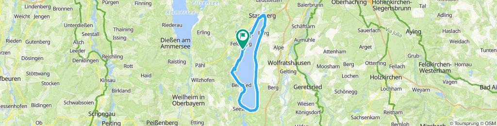 Moderate Route in Starnberg, gemeindefreie Gebiete