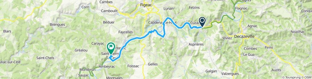 Gemütliche Route in Bouillac