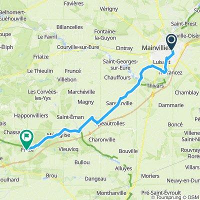 3. Etappe Chartres nach Fraze