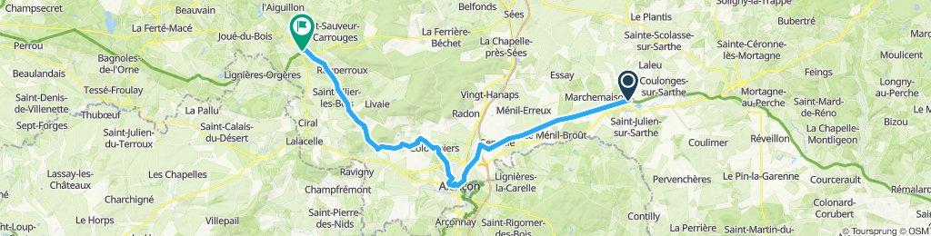 6. Etappe nach Carrouges