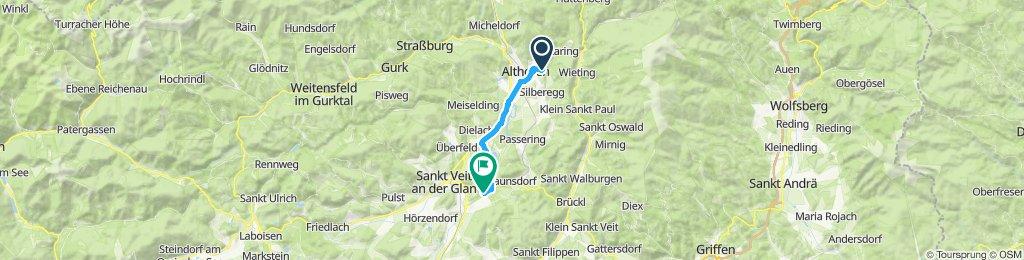 Langsame Fahrt in Althofen