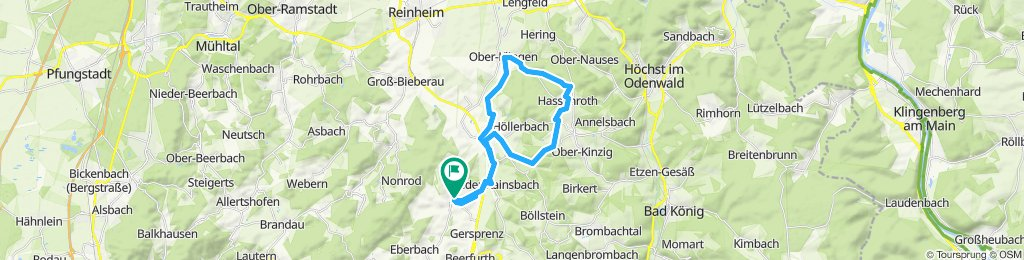 Moderate Route in Fränkisch-Crumbach