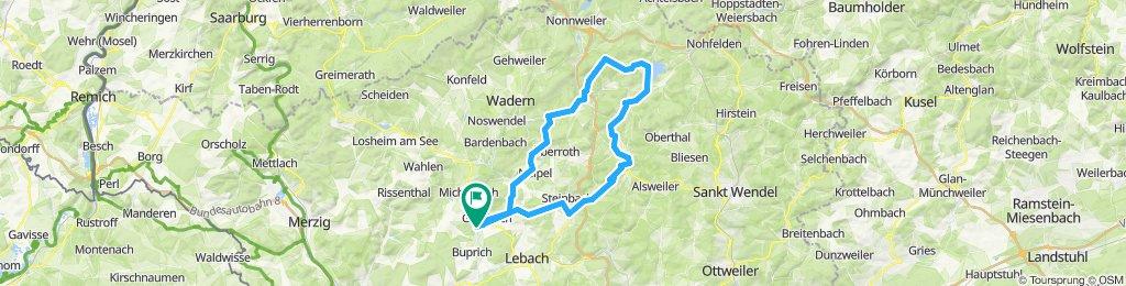 Schmelz,Peterberg,Bostalsee,Schaumberg inkl. Trail,Schmelz