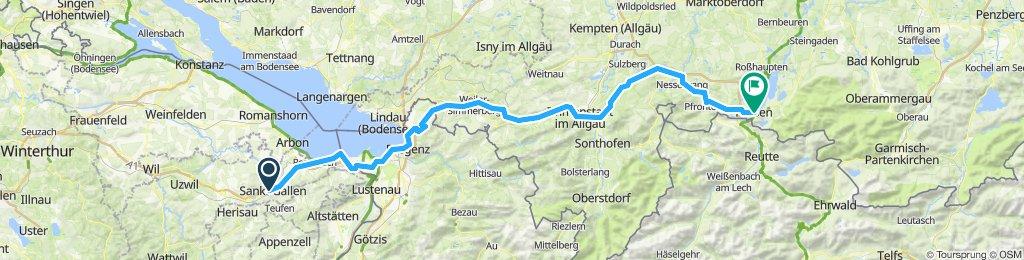 Sankt Gallen-Füssen