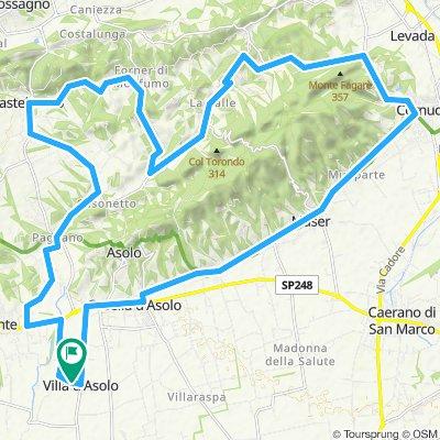 Giro a velocità costante in Villa d'Asolo