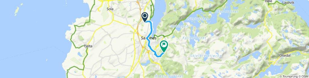 Snail-like route in Sandnes