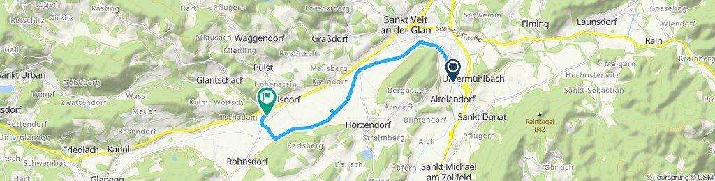 Gerade Fahrt in Liebenfels