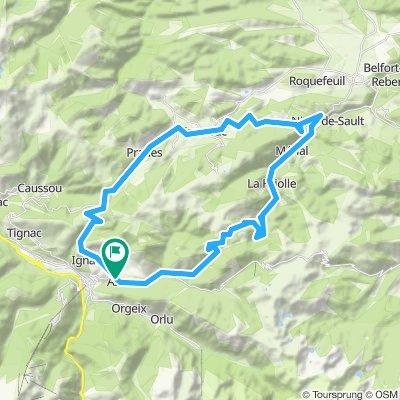 1) Ax Les Thermes - Col de Pradel - Ax Les Thermes