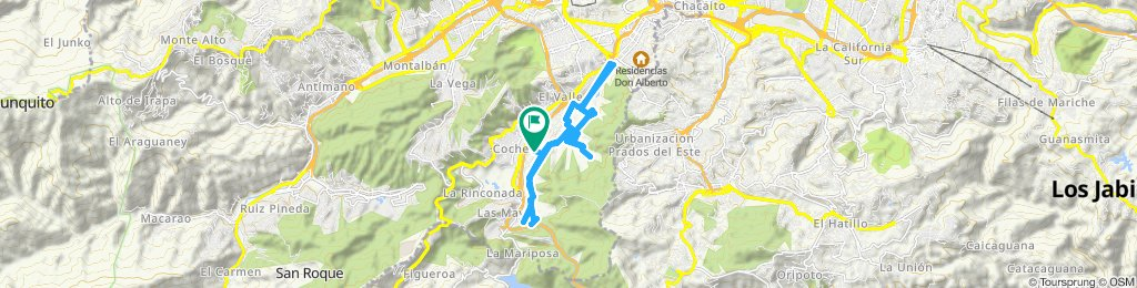 Ruta relajada en Caracas