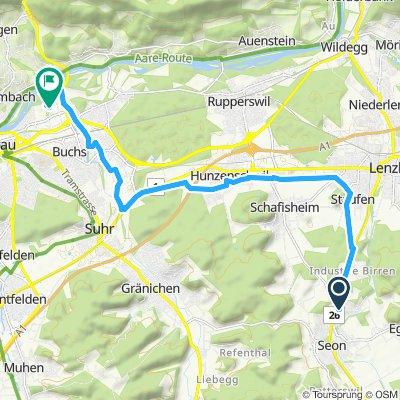 Gerade Fahrt in Aarau