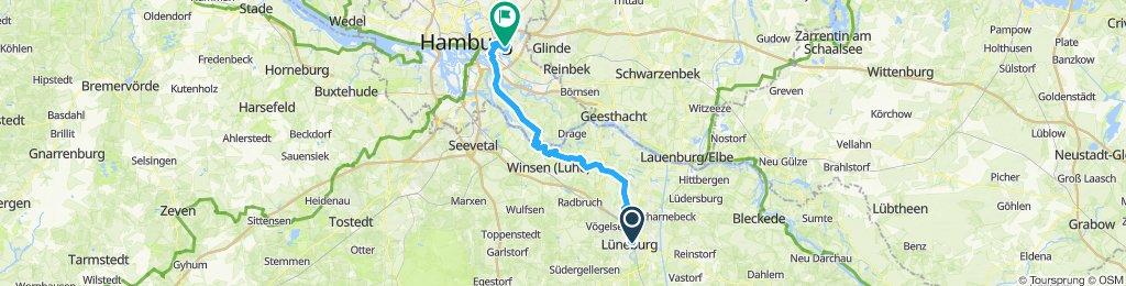 von Lüneburg über Hoopte Zollenspieker nach Billstedt