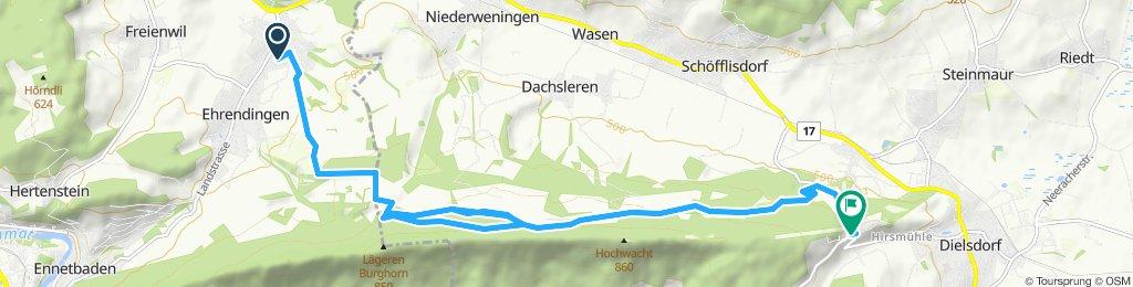Route im Schneckentempo in Regensberg
