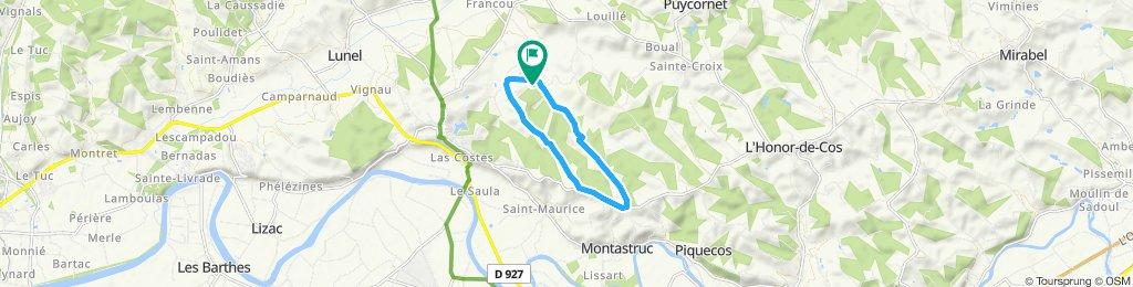 Itinéraire modéré en Lafrançaise