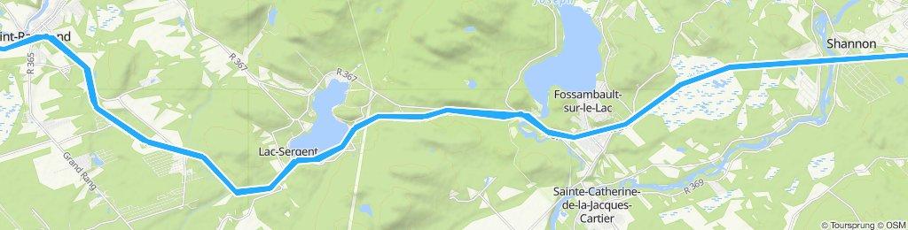 Route verte - BFC Valcartier à St-Raymond