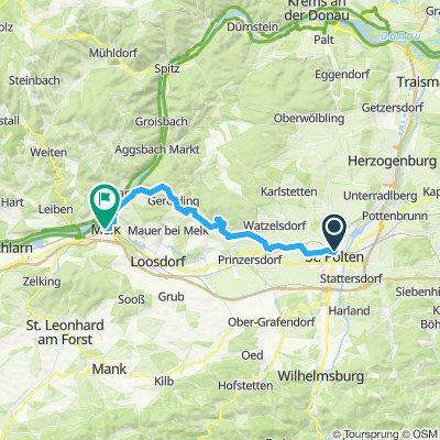 St. Pölten nach Melk über Ruine Hohenegg
