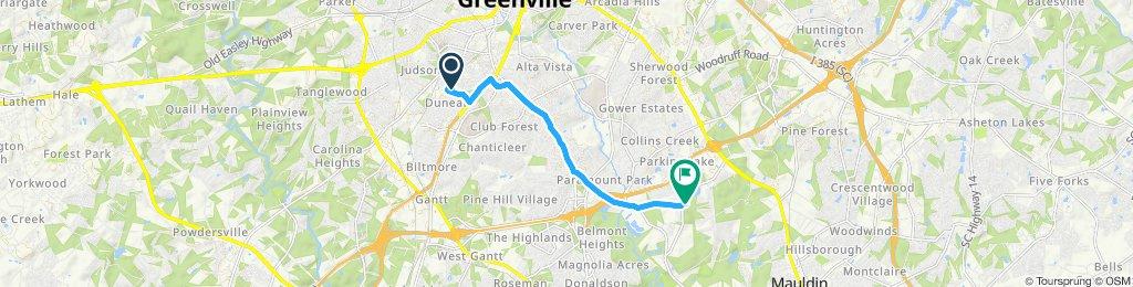 Snail-like route in Greenville
