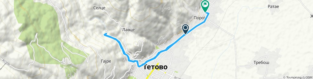 Snail-like route in Tetovo