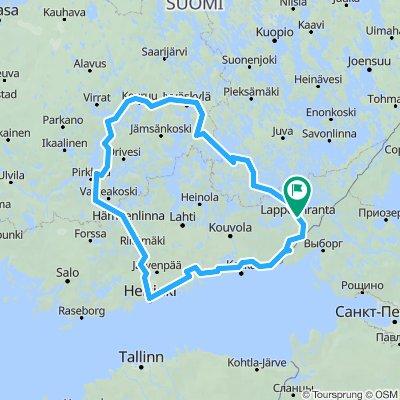 Lappeenranta - Central Finland - Tampere - Helsinki and back 1000 km