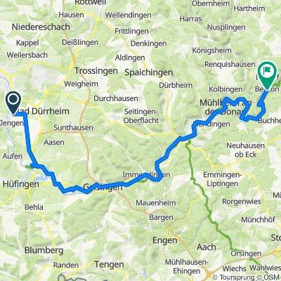Donauradweg nach Beuron im Donautal