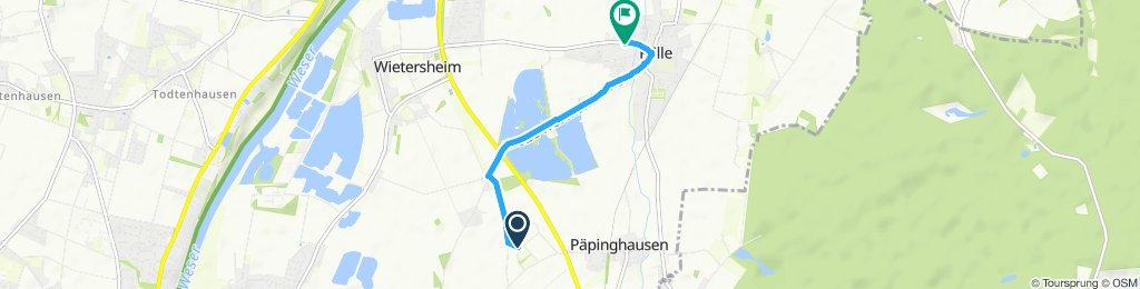 Einfache Fahrt in Petershagen