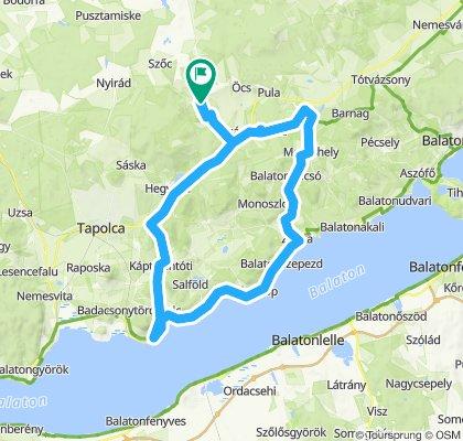 Taliándörögd-Badacsony-Zánka-Nagyvázsony-Taliándörögd