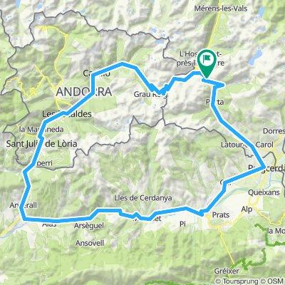 Pętla przez Andorrę i najwyższą przełęcz Pirenejów