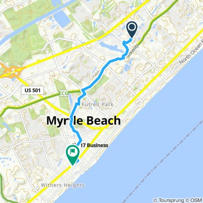 Moderate route in Myrtle Beach