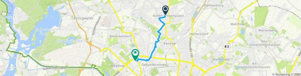 Route an der Panke
