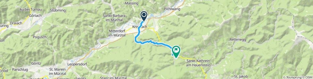 Langsame Fahrt in Krieglach