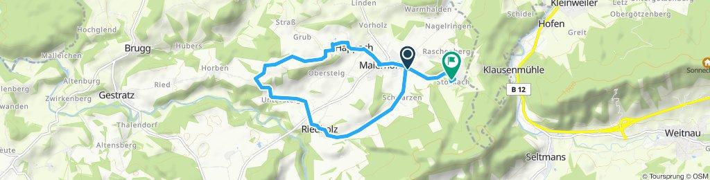 Route im Schneckentempo in Maierhöfen