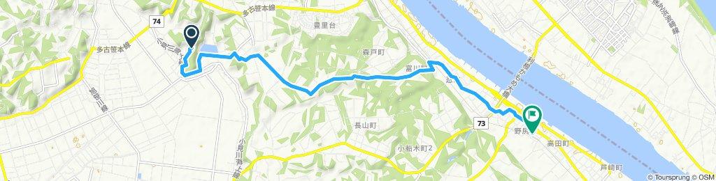 東庄県民の森~成田線椎柴駅