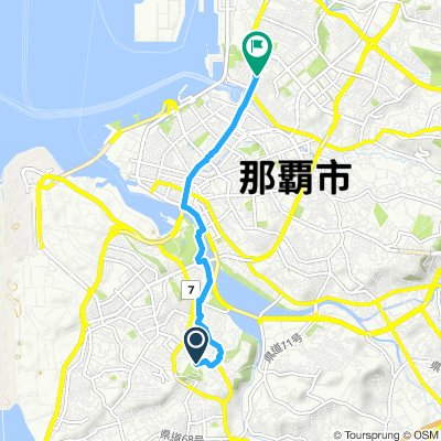 Snail-like route in Naha-Shi