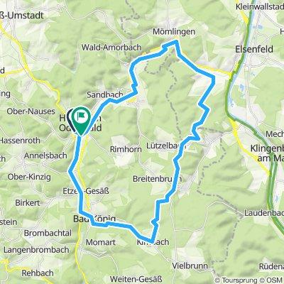 Höchst nach Waldschänke Obernburg