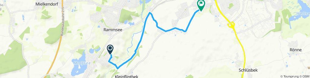 Von Molfsee nach Meimersdorf entlang der Bahnschienen