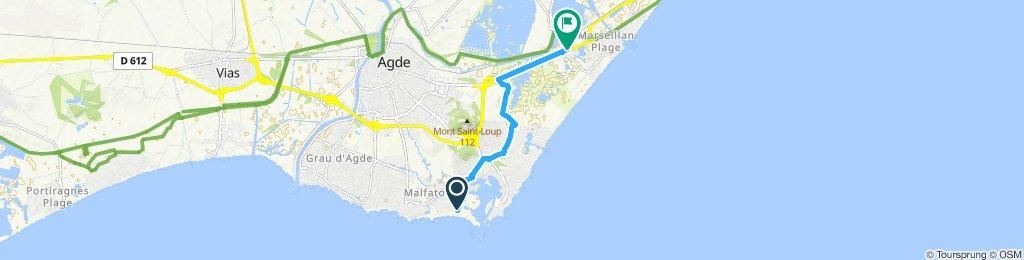 Langsame Fahrt in Sète