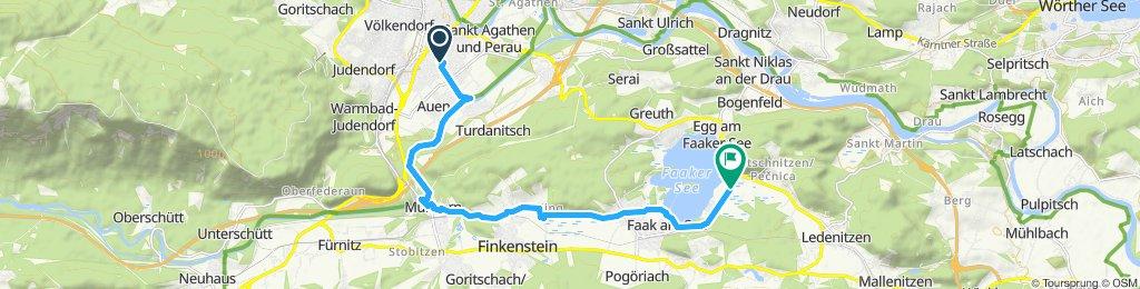 Gemütliche Route in Finkenstein am Faaker See