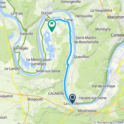Steady ride in Anneville-Ambourville