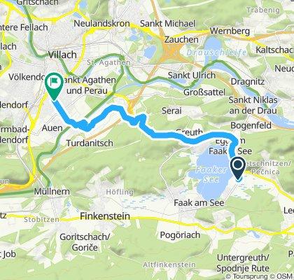 Langsame Fahrt in Villach